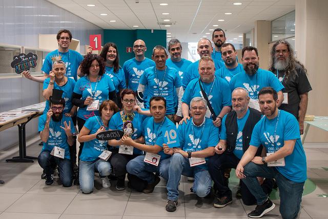 Equipo de voluntarios y organizadores de WordCamp Irun 2018
